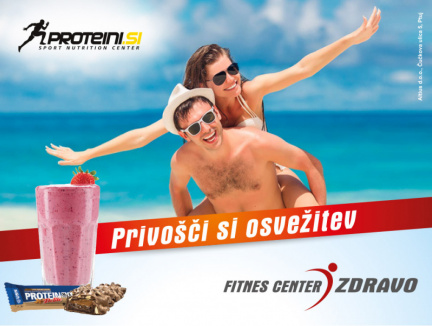 Jumbo plakat Fitnes center Zdravo